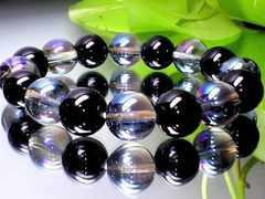 値下げ大特価スタ-トブラックオニキス黒瑪瑙アクアオーラ12ミリ数珠