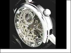 +★+[新品]スケルトン腕時計 /希少 アンティーク 機械式 Z1