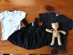 女の子 ベストワンピース+コムサTシャツ