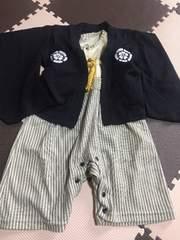 袴デザインロンパース 七五三 正月 年賀状
