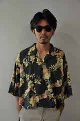 100%シルクアロハシャツ/ハワイアンシャツオープンカラーシャツ