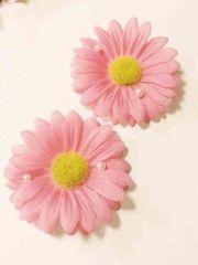 パール付きピンク大きめ花可愛いクロックスジビッツセット