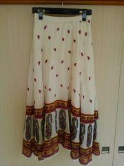 古着【PETRO GIRL】インド調ロングスカート・Mサイズ