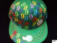 セールGinoGreenGlobalジノグリーングローバル★レア総刺繍キャップ5/8グリーン
