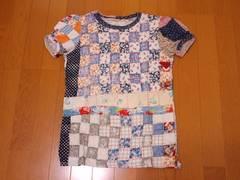 キャピタル★2008サマー★キルトプリント/パフスリーブTシャツ★size1★定価11340円