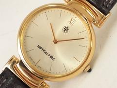 7725/NIPPONFIREゴールドケースメンズ腕時計★お洒落格安出品