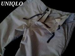 【UNIQLO】ドライコットンイージーパンツ M/L.Gray