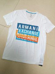 ARMANI EXCHANGE◆アルマーニデカロゴTシャツ白L◆新品