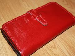 最高級本革 オリジナル長財布 レッド 限定特価 入荷