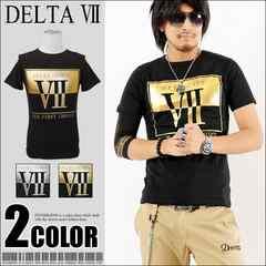 メール便送料無料【DELTA】Tシャツ70634新品黒金XL