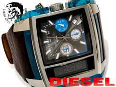 良品 1スタ ディーゼル  2TIME【クロノグラフ】大型メンズ腕時計