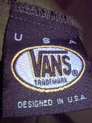 VANS ヴァンズ ミリタリー ジャンパー ジャケット 上着 シャツ グリーン Mサイズ 薄手