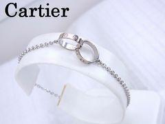 Cartier カルティエ K18WG ベビーラブ ブレスレット 18cm 仕上げ済★dot