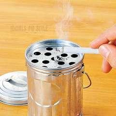 ゴミ箱ブリキ風 フタ付灰皿 小物入れ アッシュトレイ 銀シルバー