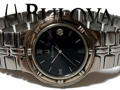 極希少 1スタ★ブローバ BULOVA クラシカルな大人の腕時計