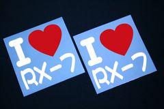 I ラブ ステッカー2枚組み 各色有り RX-7