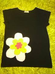 ●Berry's Berry● お花アップリケチュニックTシャツ120