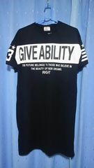 ★新品同様★大きいサイズ/ロング丈Tシャツ★(4L)