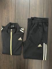 150/ adidas セットアップ 黒×ゴールド