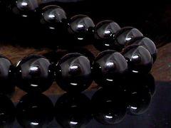 天然オニキス10ミリ黒瑪瑙数珠