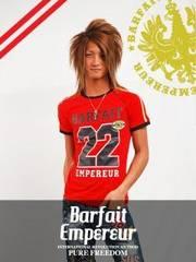 BarfaitEmpereurバルフェアンプルール22アメリカンTシャツ/M