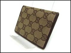 GUCCI グッチ GGキャンバス カードケース 04009 ブラウン系