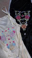 LLサイズ2枚組!背中に薔薇刺繍!高貴な女性観!溢れる新品!スリップ!