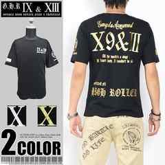 メール便送料無料【G.H.R NINE&THIRTEEN】70737Tシャツ黒金XL