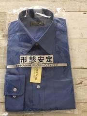 未使用 紳士 ワイシャツ ブルー Mサイズ 長袖