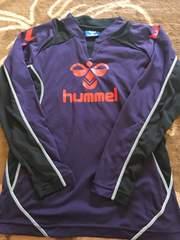 ☆hummel プラクティスシャツ 黒×紫 140