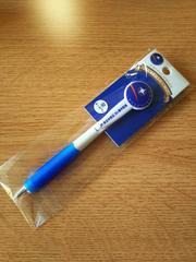 JR東日本発足30周年記念カシオペアヘッドマーク付き黒ボールペン