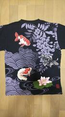 セール 新品 [ 絡繰魂 ]金魚 刺繍 半袖Tシャツ スカジャン 好きにも
