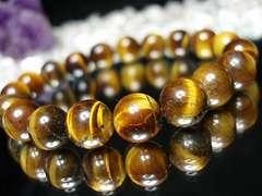 『護符・御守』天然石2Aタイガーアイ約10ミリ19粒ブレス数珠