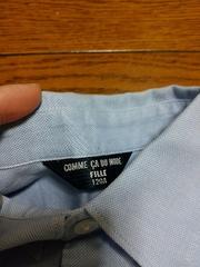 美品★『COMME  CA  DU  MODE』水色長袖シャツ=120A=