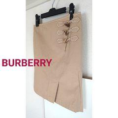 正規美品 バーバリー 膝丈 スカート ベージュ BURBERRY 38