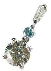 美品 K18 上質ダイヤモンド 0.3ct SI-1 ペンダントトップ 18金
