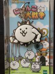 3DSアプリゲーム『にゃんこ大戦争』つながるラバーストラップ携帯/ネコビルダー