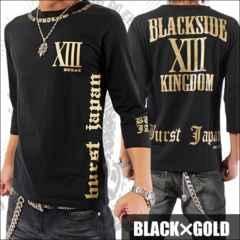 メール便送料無料【MAD BURST JAPAN】705547分Tシャツ黒金XL