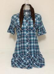 チェック☆シャツワンピ M