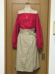 ハイウエストのベルト付きスカート♪