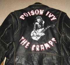 The Cramps ザ・クランプス Poson Ivy 牛革 黒 L