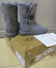 値下げ 新品 箱付 本物 アグ UGG ショート ブーツ 5803w グレー