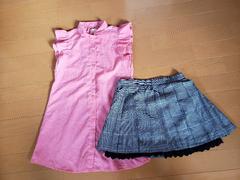 ジェニィ チェック スカート ピンク ブラウス 130セット