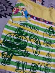 JAM★薄手ボーダーTシャツ★落書きモンスター可愛★110★ジャム★