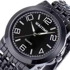 ステンレスバンド 腕時計 ブラック
