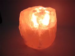 ヒマラヤ★ピンク岩塩ナチュラル型キャンドル1-1.5