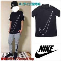 T64XL■新品★ナイキ ビッグスウォッシュ Tシャツ 黒L■
