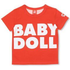 新品BABYDOLL☆130  ロゴ&BIGハートTシャツ 赤 ベビードール