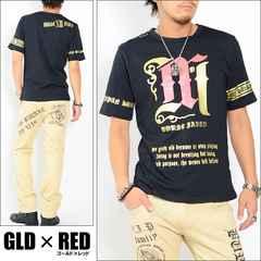 メール便送料無料【MAD BURST JAPAN】70740Tシャツ金赤L