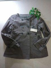 *UNIQLO*  ベルベットAラインジャケット  L  新品7990円